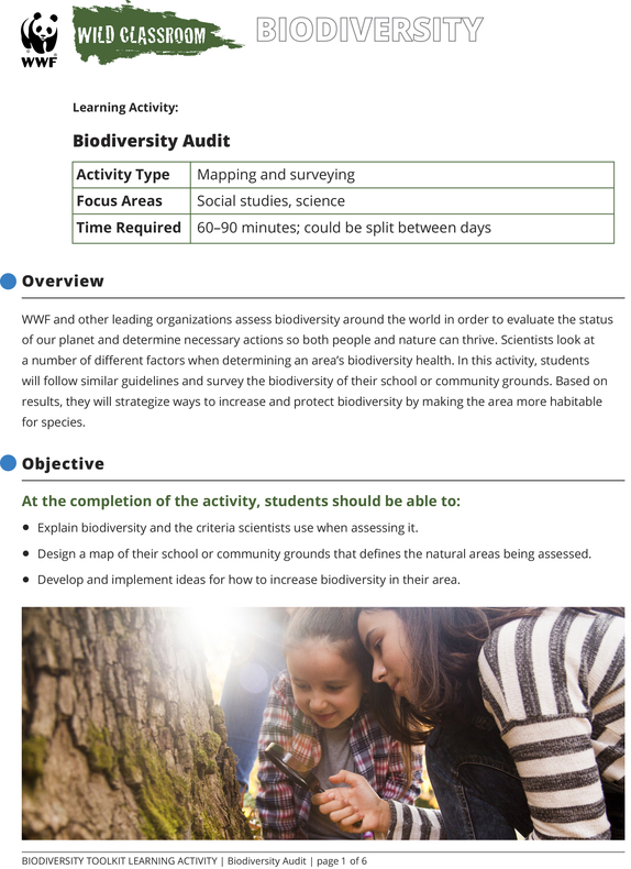 Biodiversity Audit Brochure