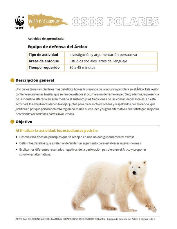 Equipo de defensa del Ártico Brochure