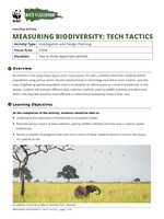 Measuring Biodiversity: Tech Tactics Brochure
