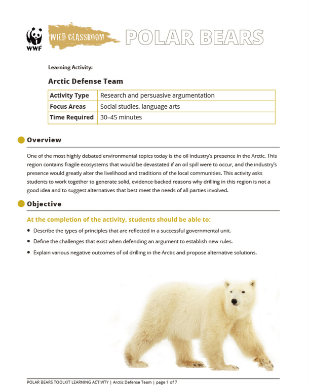 Arctic Defense Team Brochure