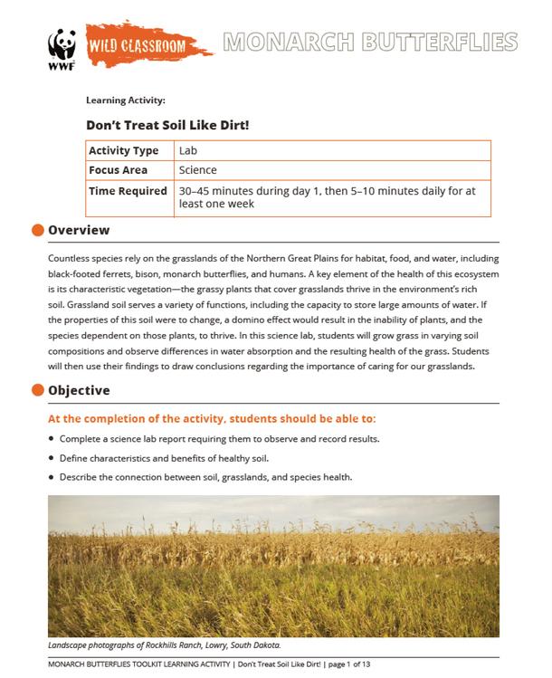 Don't Treat Soil Like Dirt! Brochure