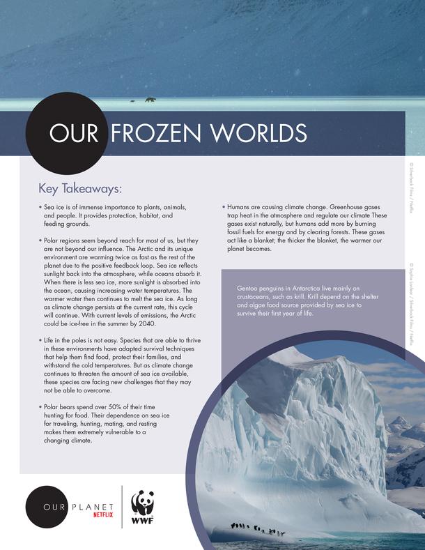 Our Frozen Worlds Brochure