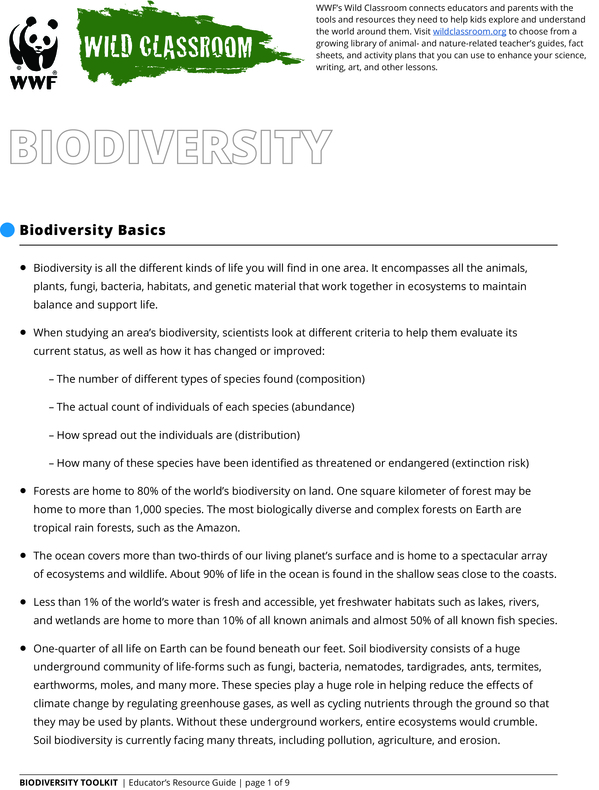 Full Biodiversity Toolkit Brochure