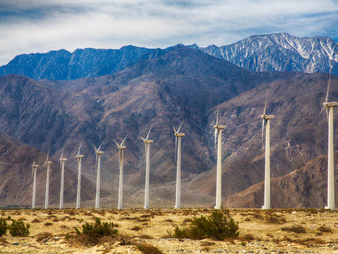 Wind turbines outside Palm Springs, CA