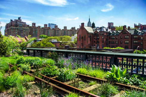 High Line Urban Public Park in New York City