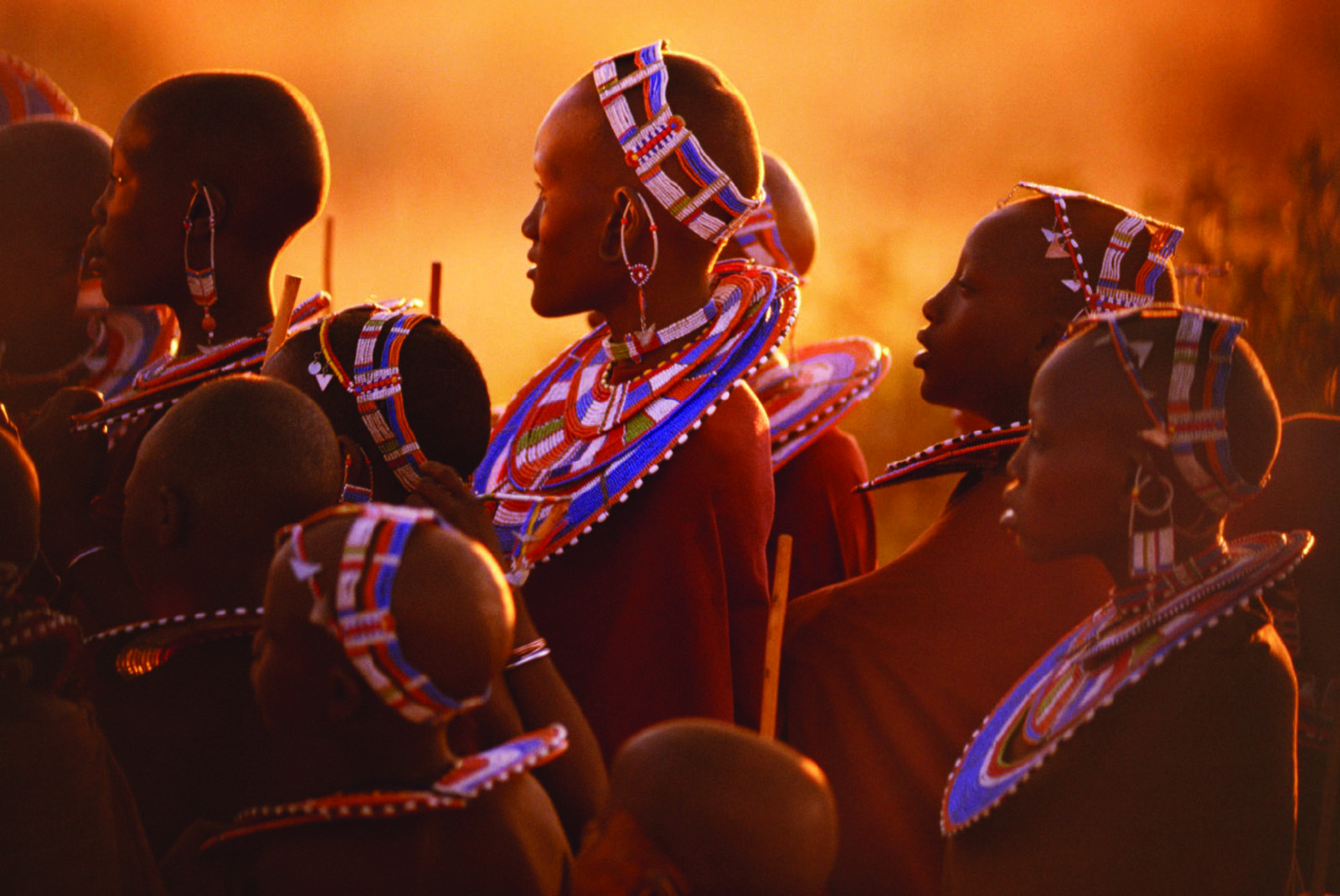 The Maasai people in the East African savanna