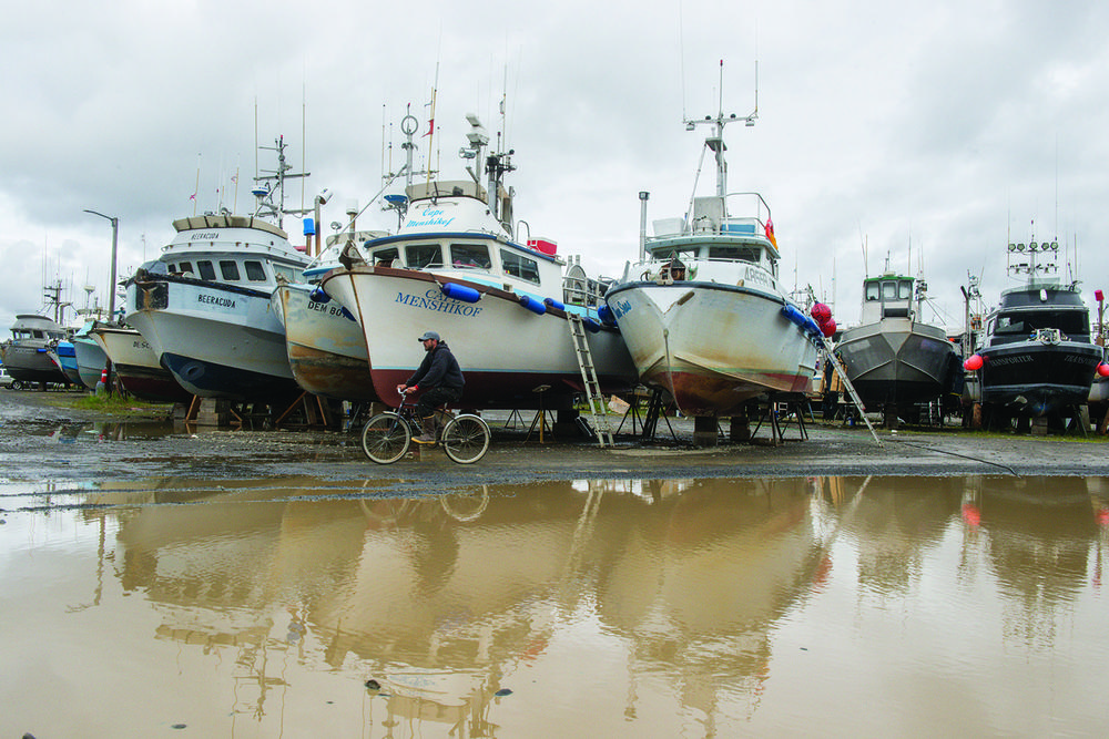 A quiet morning in Dillingham boatyard