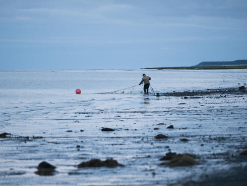 Man fishing in Bristol Bay
