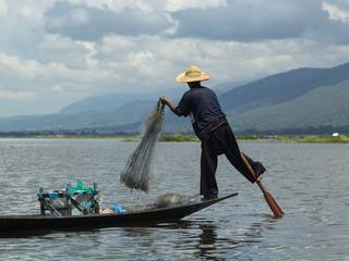 fisherman in Myanmar