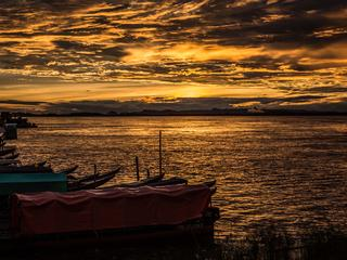 sunset over orinoco
