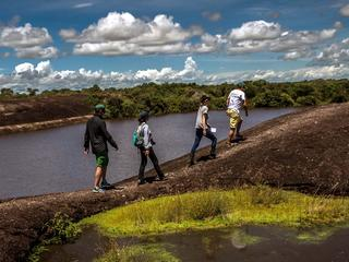 people walking along orinoco