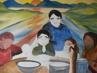 Apayo Moore painting of family