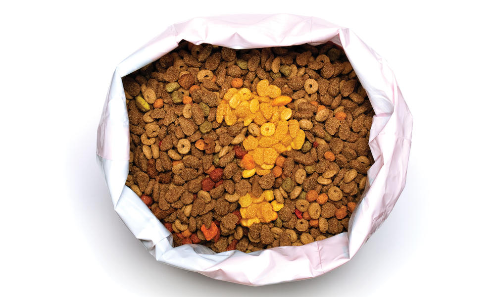 Bag of pet food