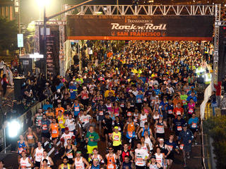 Runners at the Rock 'n' Roll Half Marathon