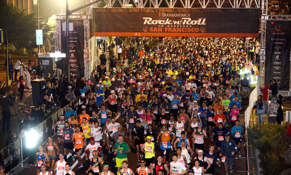 Runners at the Rock 'n' Roll Half Marathon