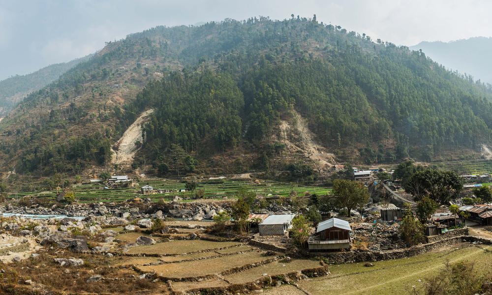 Landslide in pairebesi