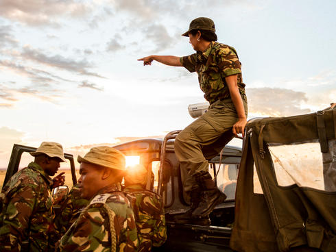ranger on top of vehicle