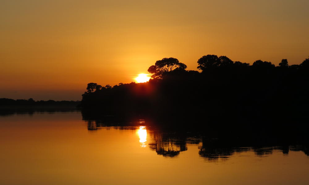 sunset on the Congo Basin