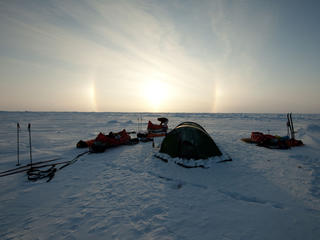 campsite in the arctic