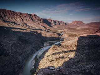 A dry canyon in the American southwest