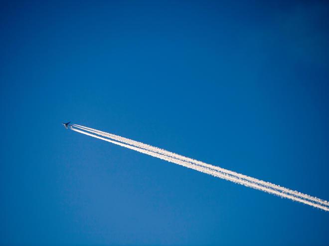 A plane flying over Ambleside, UK.