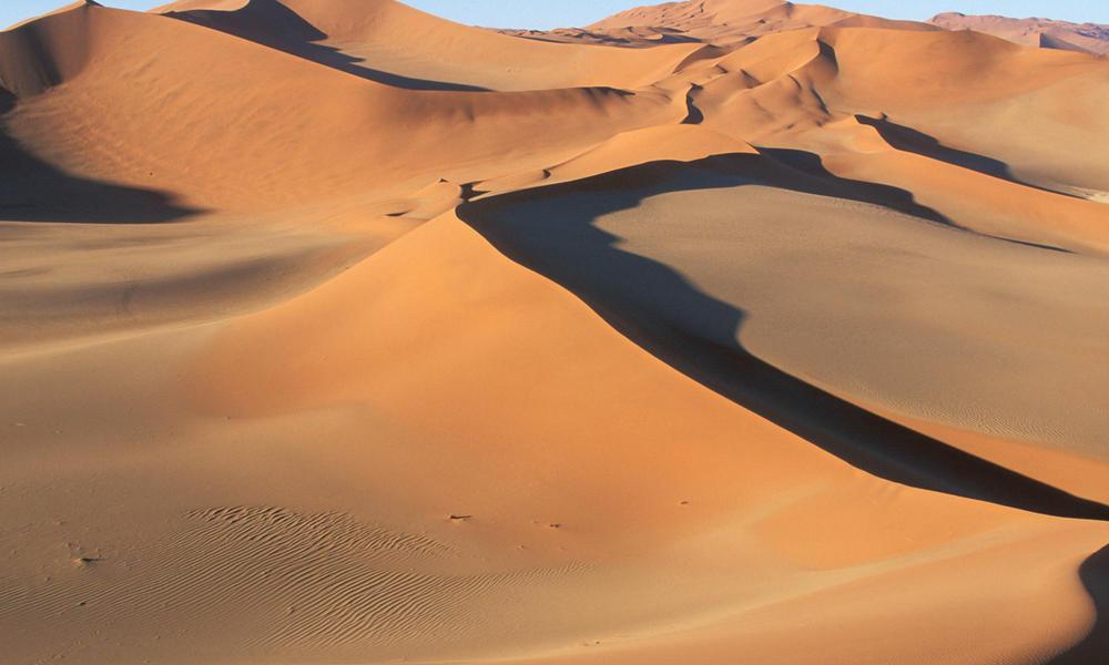 Sand dunes, desert, Namibia