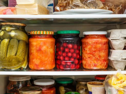 a refrigerator shelf