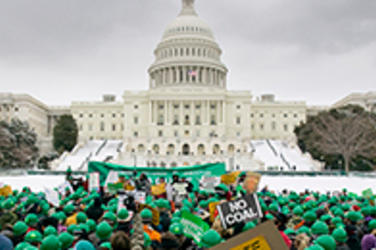 Green Supporters on Capitol Hill