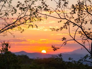 Sunset over Selous Game Reserve in Tanzania