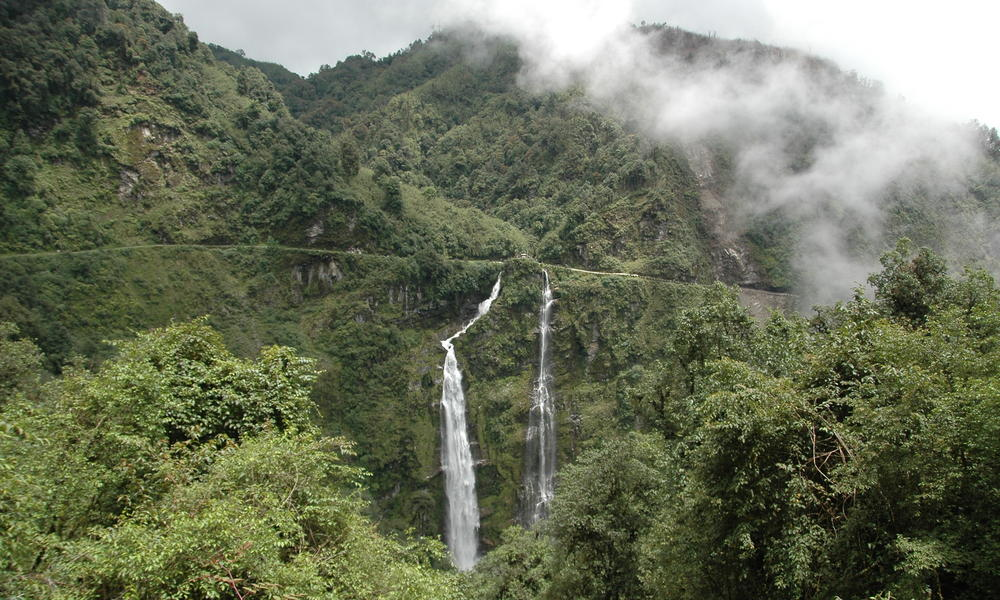 Waterfall in Eastern Bhutan