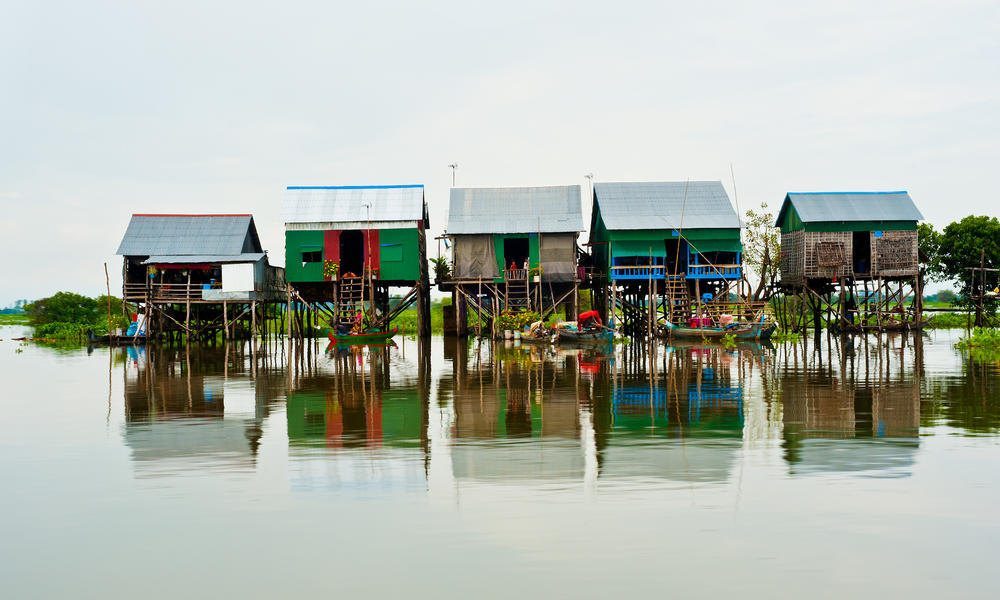 Cambodia   floating village tonle sap ii