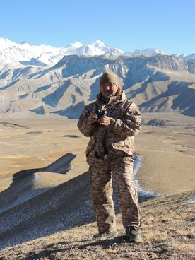 Ranger Omurbek Kurmanaliev in Kyrgyzstan