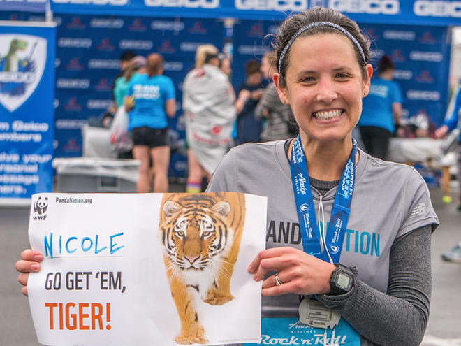 Panda Nation runner, Nicole Bennion