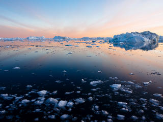 sea in in Ilulissat, Greenland