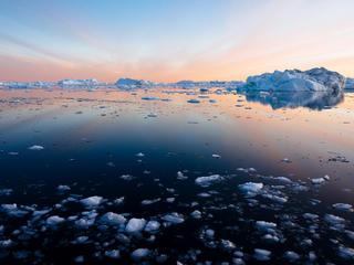 sea in in Ilulissat, Greenland