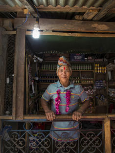 Sunbir Ghale's house powered by electricity from a 'micro-hydro' system