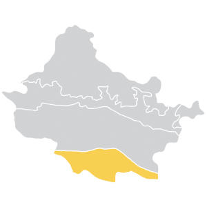 map of the Churia Hills and Terai Arc region of the Gandaki river basin