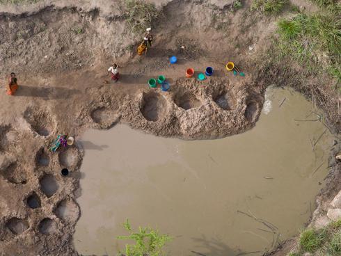 Water wells in Selous, Tanzania
