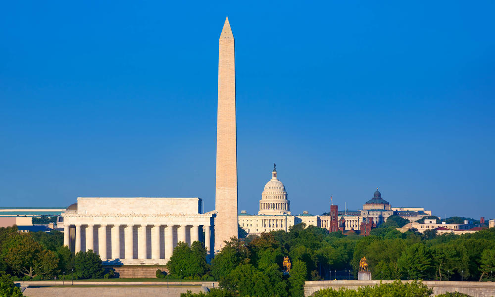 US Capitol Building and Washington Monument