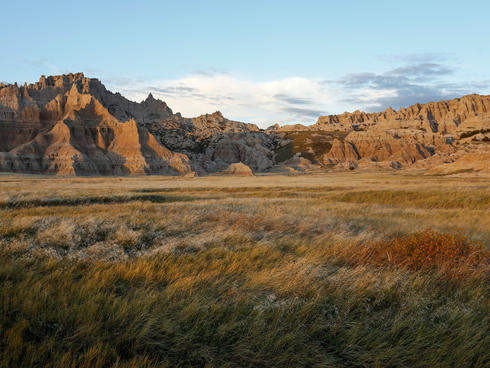 landscape of Badlands