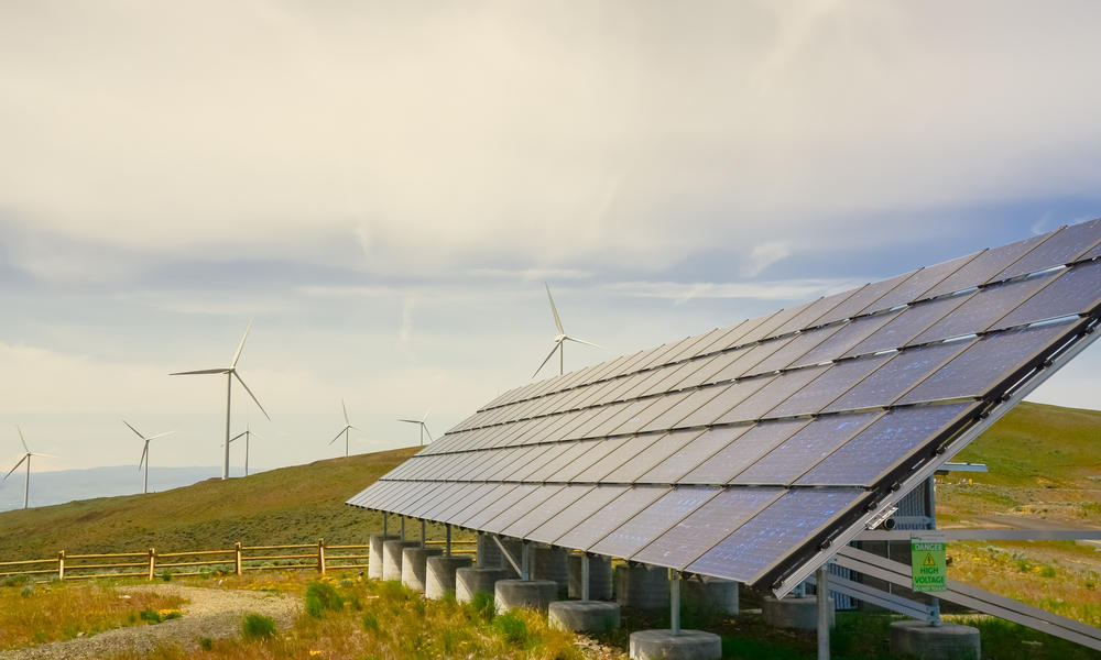 solar panels in Washington state