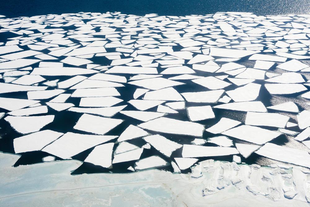 Melting ice in the Bering Strait