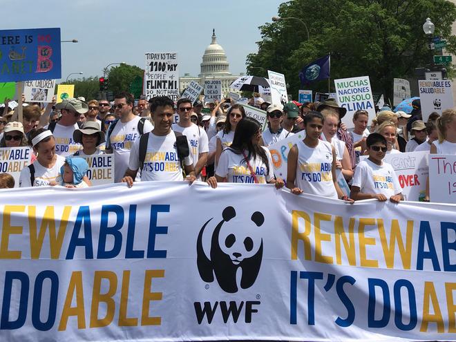 WWF marchers