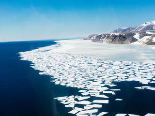 Melting ice along the Bering Strait