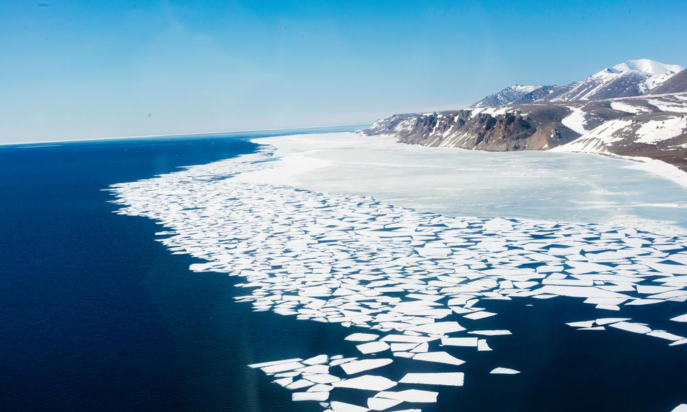 Melting ice along the Bering Strait