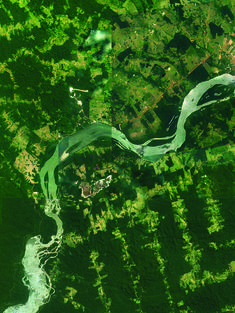 Satellite image of Tapajos River