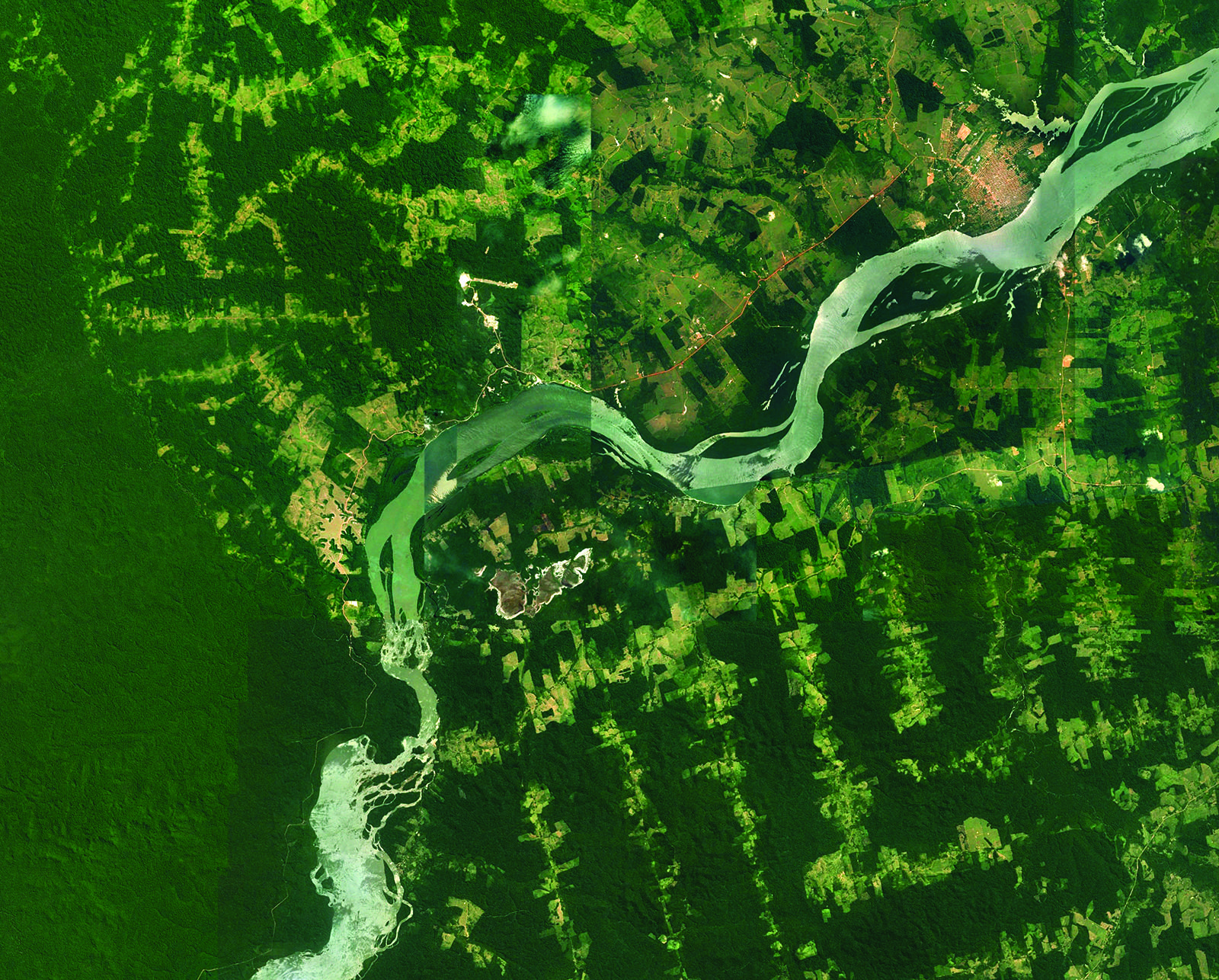 Satellite image of the Tapajos River