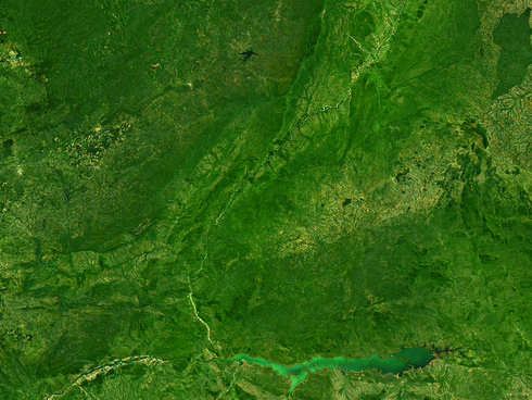 Satellite image of Luangwa River