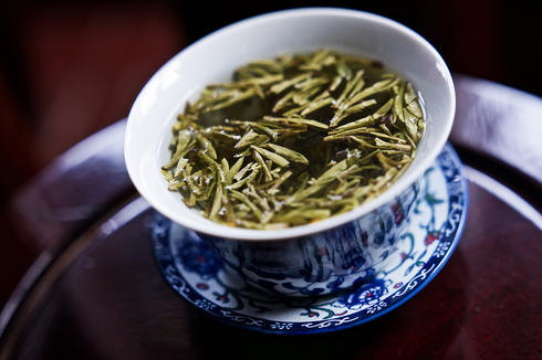 Cup of Chinese green tea