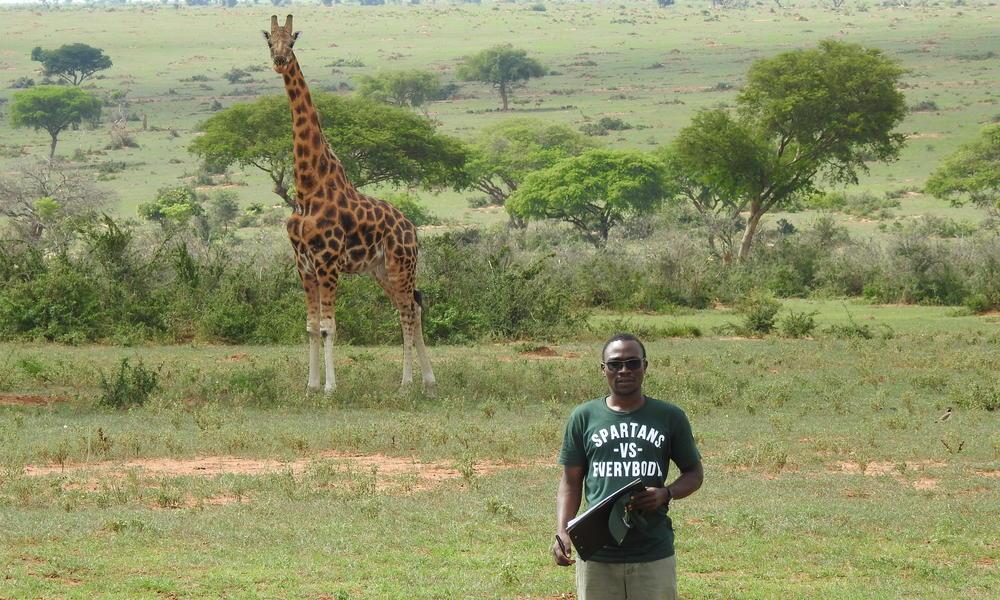 Herbert Kasozi in the field